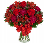 Teleflora's Cherry Rose - 371 Vase Arrangement