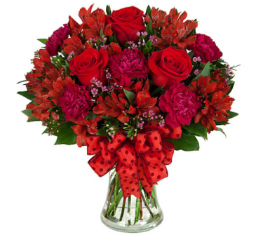 Cherry Rose - 371 Vase Arrangement