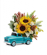 Teleflora's Chevy Pick Up Bouquet Fresh mixed flower arrangement