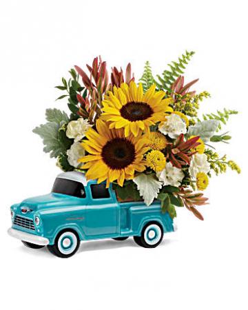 Chevy Pickup Bouquet - 100 Flower arrangement
