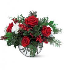 Teleflora's Christmas Bubble Bowl  Christmas arrangement