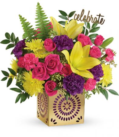 Teleflora's Colorful Celebration Bouquet