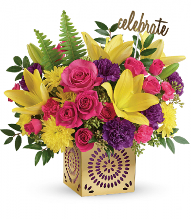Teleflora's Colorful Celebration T602-1B Bouquet