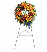 Teleflora's Colorful Serenity Wreath Sympathy