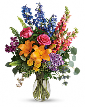 Teleflora's Colors of the Rainbow Bouquet everyday in Portage, IN | Flower Power Designs