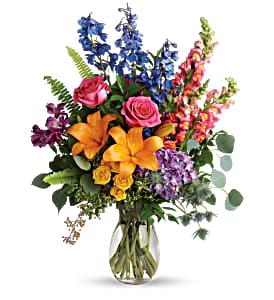 Teleflora's Colors of The Rainbow Bouquet Fresh Flowers