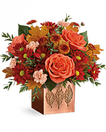 Teleflora's Copper Petals Fresh Arrangement