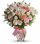 Teleflora's Cotton Candy Vased Arrangement
