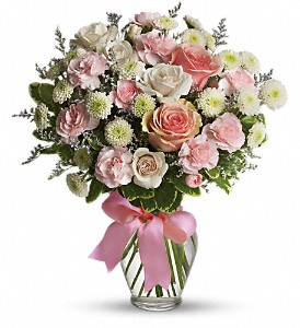 Teleflora's Cotton Candy Vased Arrangement in Auburndale, FL   The House of Flowers