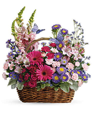 Teleflora's Country Blooms Basket Fresh Arrangement