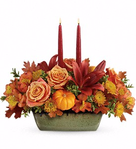 Teleflora's Country Oven Centerpiece in Coral Springs, FL | DARBY'S FLORIST