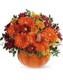 Teleflora's Country Pumpkin Fall Arrnagment