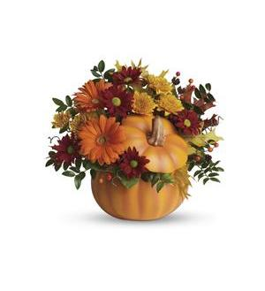 Teleflora's Country Pumpkin Fresh Fall Arrangement
