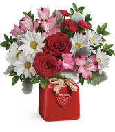 Teleflora's Country Sweetheart Bouquet T19V300A  Valentine