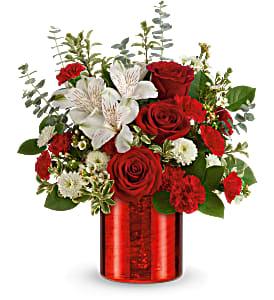 Teleflora's Crimson Crush T21V410B Bouquet