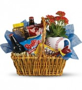 Teleflora's Play Ball Snack Basket Basket Arrangement