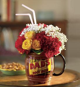Teleflora's Dad's Root Beer Flower Arrangement