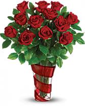 Teleflora's Dancing in Roses Bouquet