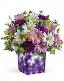 Teleflora's Dancing Violets Bouquet Fresh Arrangment