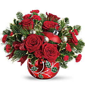 Teleflora's Deck the Holly Ornament Bouquet in Coral Springs, FL | DARBY'S FLORIST