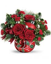 Teleflora's Deck the Holly Ornament Fresh Arrangement