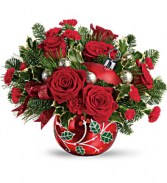 Teleflora's Deck The Holly Ornament T19X400B Bouquet