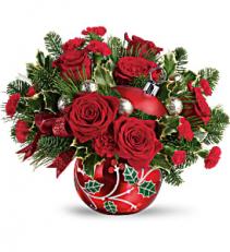 Teleflora's Deck The Holly Ornament T19X400B Bouquet