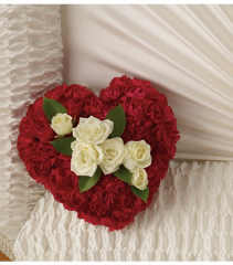 Devoted Heart Casket Flowers Funeral Flowers