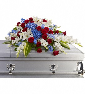 Teleflora's Distinguished Service  Casket Spray in Auburndale, FL | The House of Flowers
