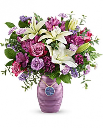 Telefloras Dreamy Dragonfly Bouquet Vase Arrangement