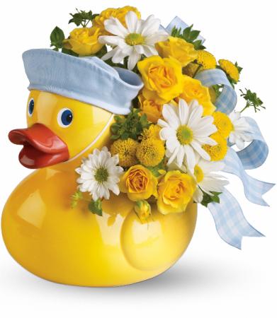 Teleflora's Ducky Delight - Boy Fresh Arrangement