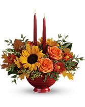 Teleflora's Earthy Autumn Centerpiece Fresh Arrangement