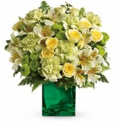 Teleflora's Emerald Elegance Bouquet Arrangement