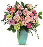 Teleflora's Enamored With Aqua T20E100B Bouquet