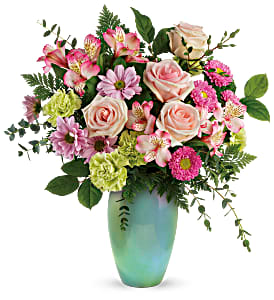 Teleflora's Enamored With Aqua T20E100B Bouquet in Moses Lake, WA | FLORAL OCCASIONS