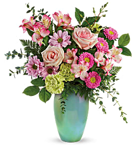 Teleflora's Enamoured with Aqua Fresh Flowers