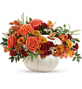 Teleflora's Enchanted Harvest arrg Fresh Arrangement with a Teleflora Keepsake