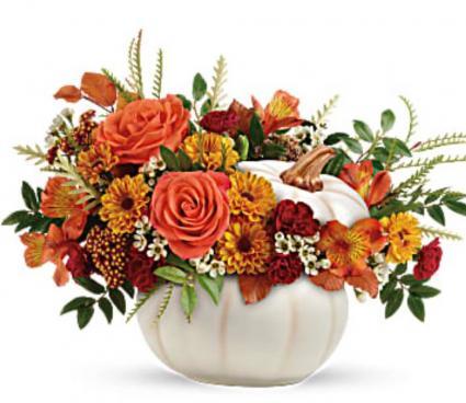 Teleflora's Enchanted Harvest Bouquet  Fresh Arrangement in a Keepsake Container