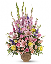 Teleflora's Ever Upward Bouquet Fresh Urn Bouquet