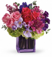 Teleflora's Exquisite Beauty Bouquet Fresh Flowers in a Keepsake Cube