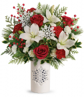 Teleflora's Festive Flurries Bouquet Winter