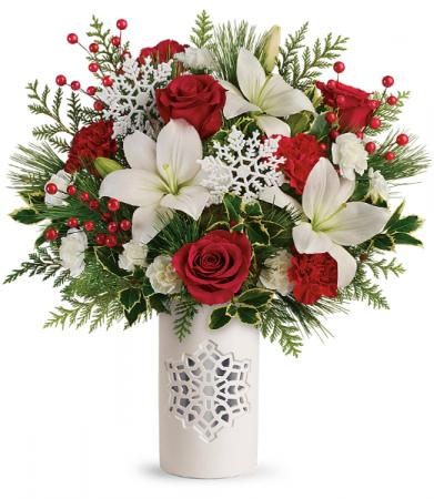 Teleflora's Festive Flurries Bouquet Winter
