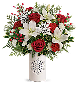 Teleflora's Festive Flurries T19X305B Bouquet  in Moses Lake, WA | FLORAL OCCASIONS