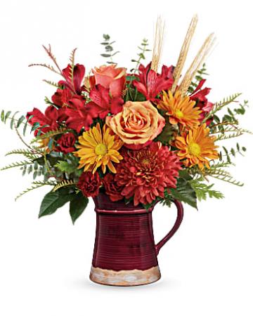 Teleflora's Fields of Fall Bouquet  pitcher