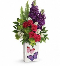 Teleflora's Flight Of Fancy Bouquet Vase Arrangment, Rose