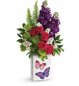 Teleflora's Flight Of Fancy Bouquet Vase Arrangment, Rose