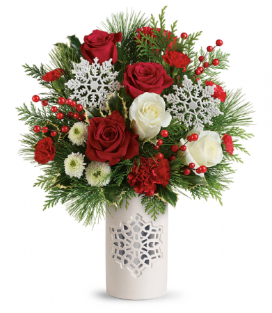Teleflora's Flurry Of Elegance Bouquet Christmas