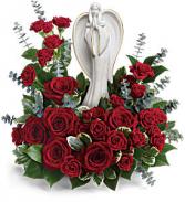 Teleflora's Forever Our Angel Fresh Flower with Keepsake