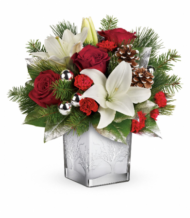 Teleflora's Frosted Forest Bouquet Christmas Arrangement