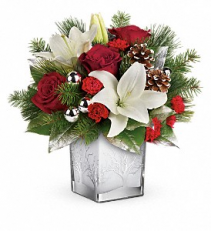 Teleflora's Frosted Forset Bouquet  T17X605 Christmas Keepsake Arrangement